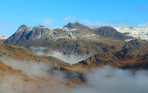 The Langdale Pikes.